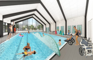 Rendering of future pool at Kayla's Children Centre